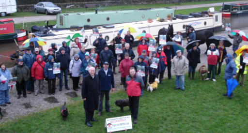 Save our Waterways protest at Bugsworth Basin
