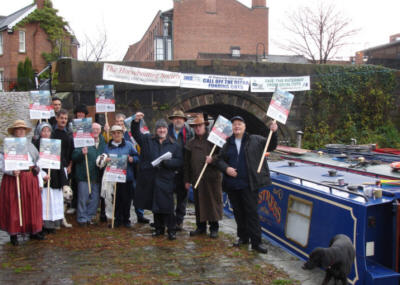 Save our Waterways protest at Castlefield