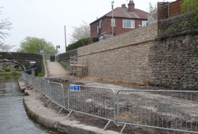 Wall collapse at Marple