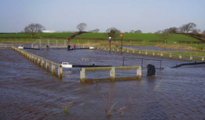 Ribble Link flooded