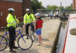 Police Patrols on the Rochdale Canal